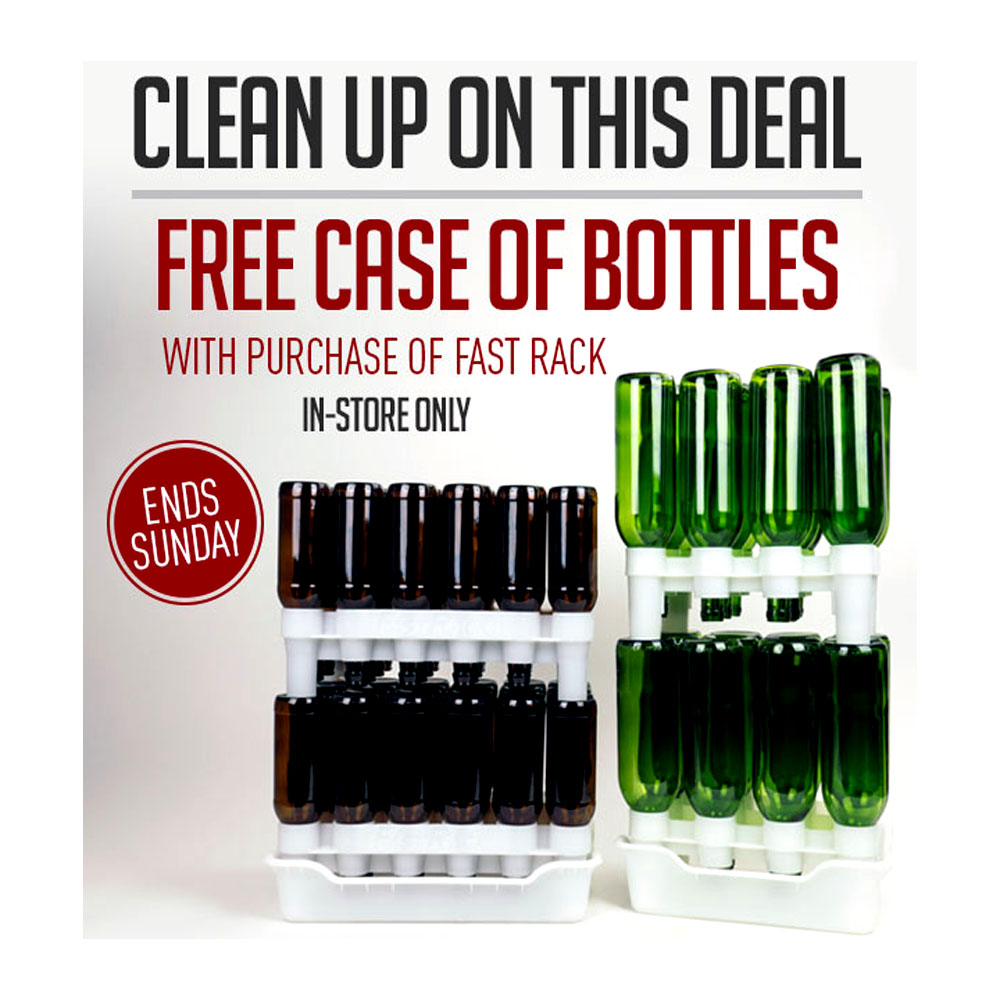 Home Brewer Promo Code for BUY A FASTRACK, GET A FREE CASE OF BOTTLES! Coupon Code