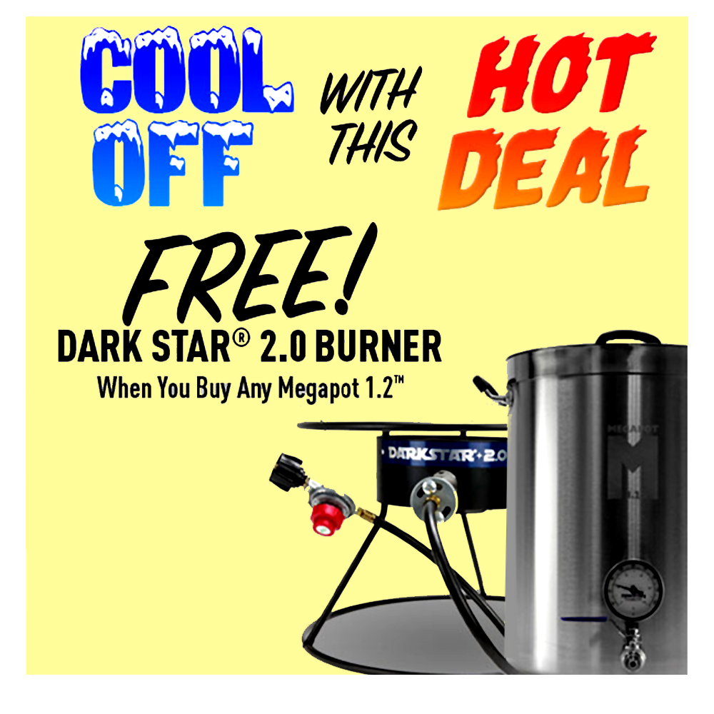 Home Brewer Promo Code for BUY A MEGAPOT AND GET A DARK STAR BURNER FREE Coupon Code