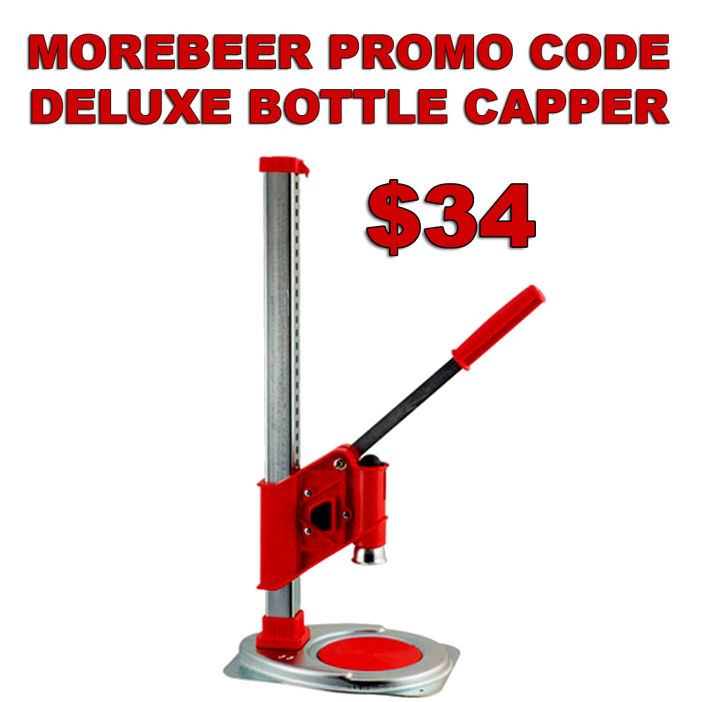 Home Brewer Promo Code for Ferrari Deluxe Bench Capper Just $34 With MoreBeer Promo Code Coupon Code