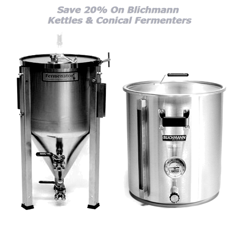 Save Up to 20% on Blichmann Conical Fermenters and Kettles