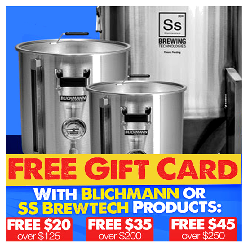 Homebrew Supply Save up to $45 On Blichmann and SS BrewTech Homebrewing Equipment Coupon Code