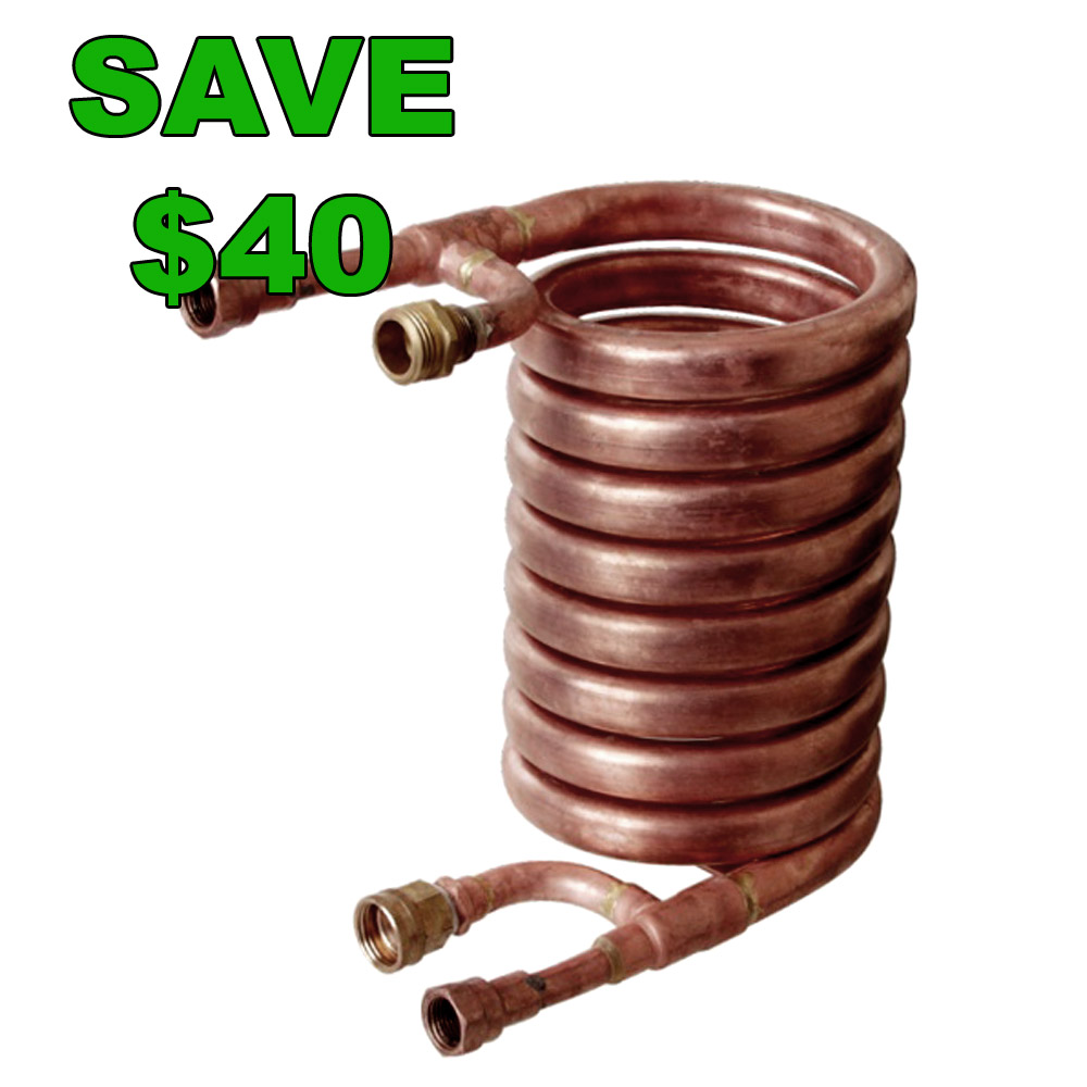 Home Brewer Promo Code for Save $40 On A Counterflow Chiller Today Only Coupon Code