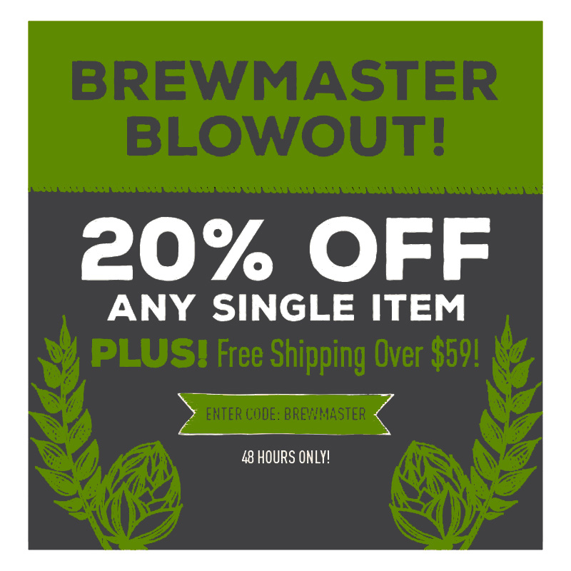 Home Brewer Promo Code for Take 20% OFF One Homebrewing Item Coupon Code