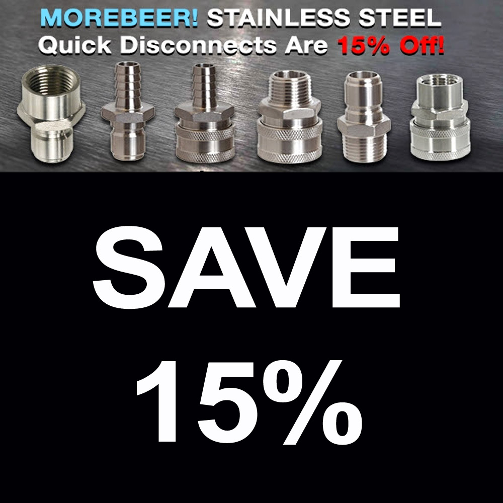 Homebrew Sale for Save 15% On Stainless Steel Quick Disconnects Sale