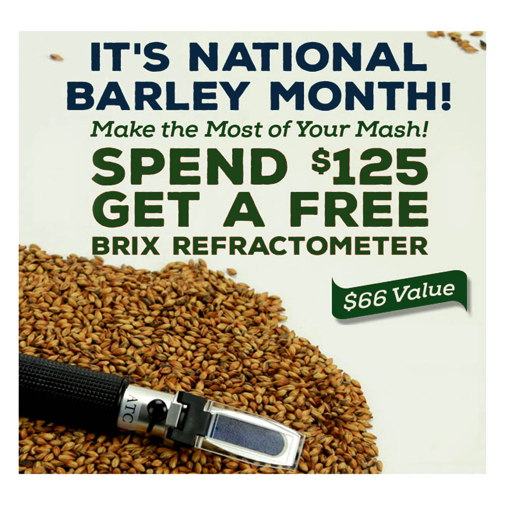 Home Brewer Promo Code for Get A Free Refractometer When You Spend $125 at Northern Brewer Coupon Code
