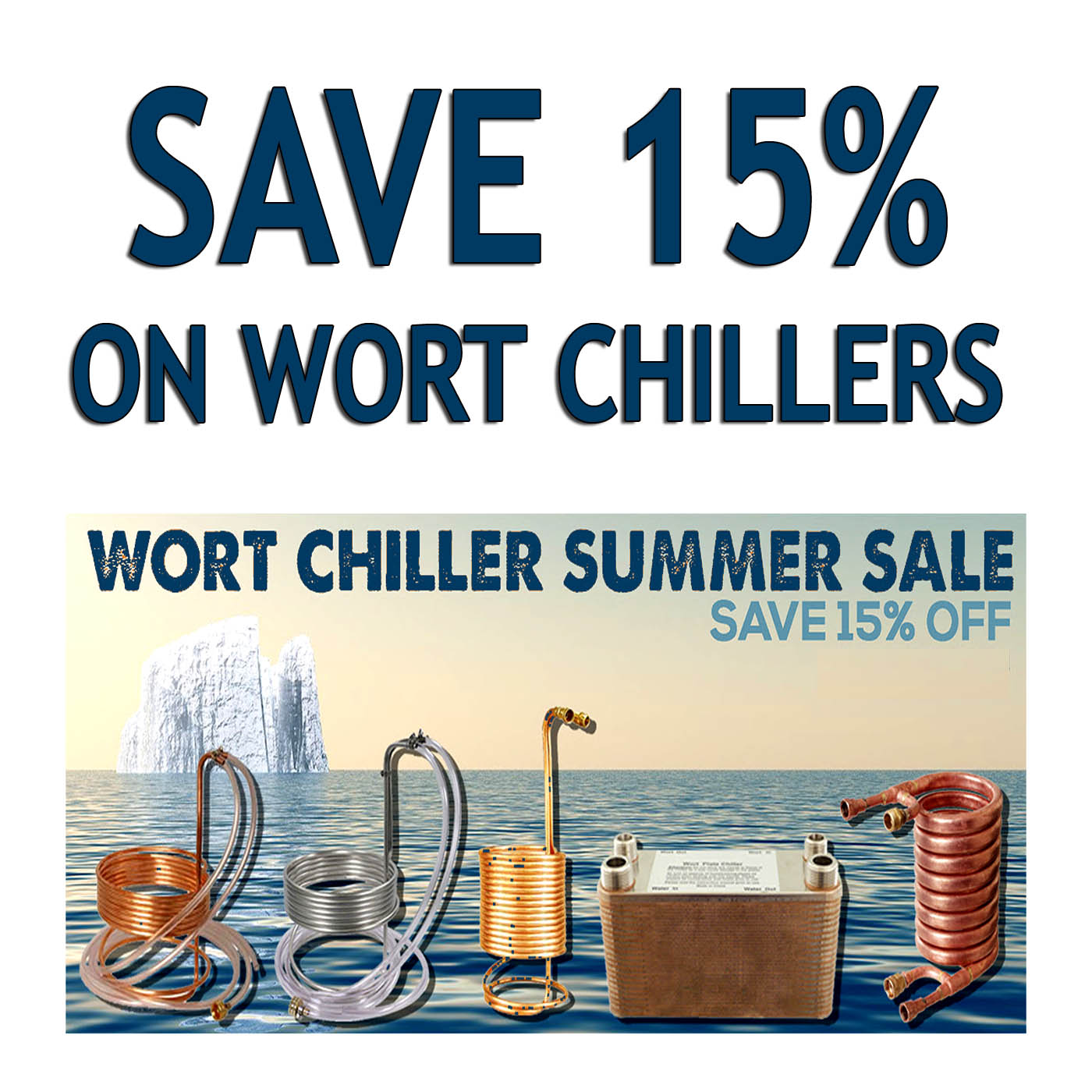 Home Brewer Promo Code for Save 15% on Wort Chillers with this MoreBeer.com Promo Code Coupon Code