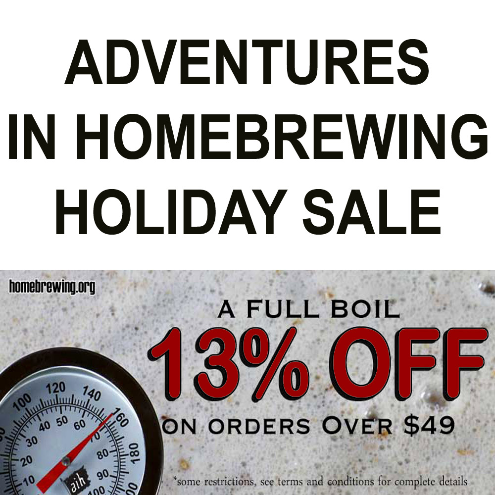 Homebrew Sale for Save 13% On All Orders Over $49 Sale