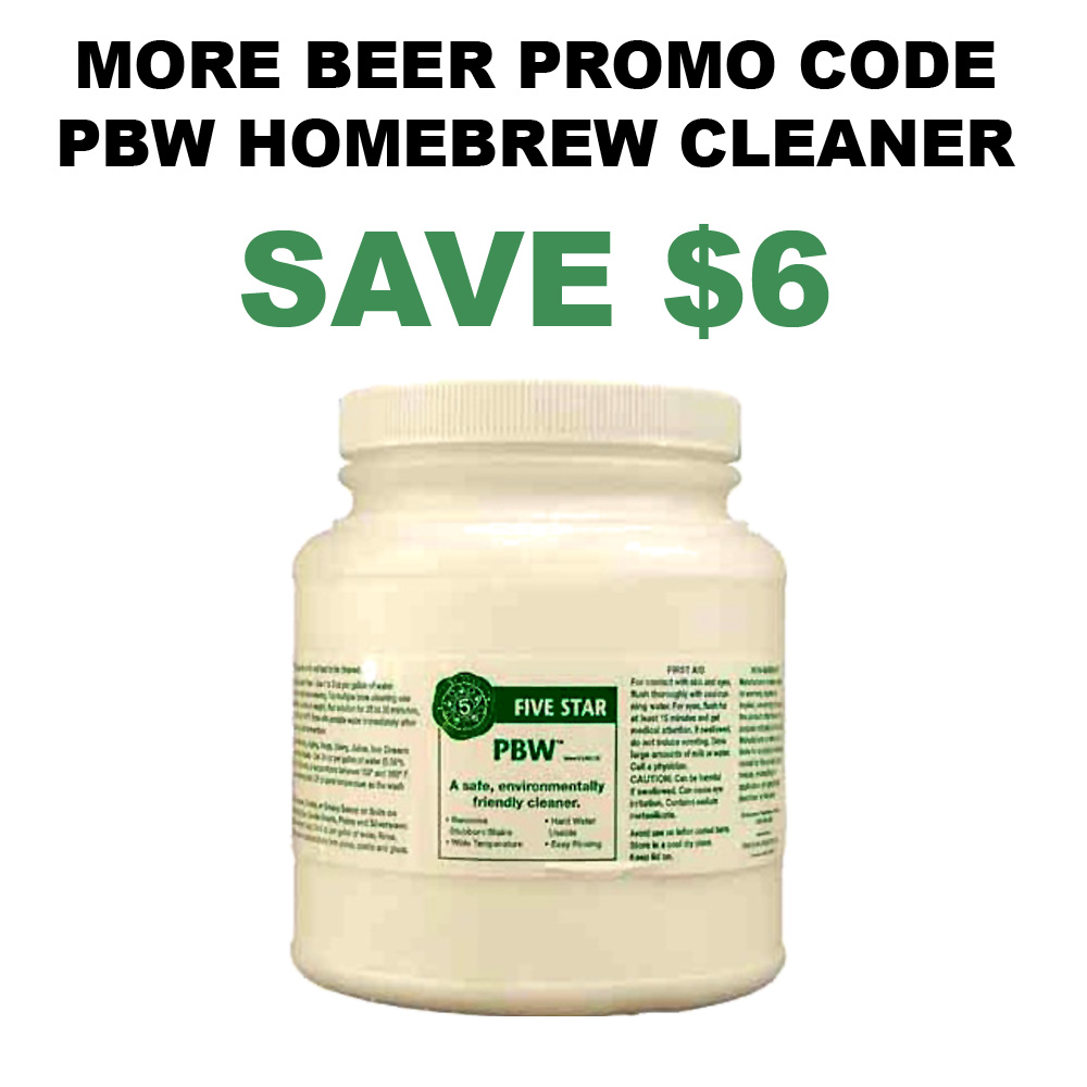 Home Brewer Promo Code for 4 LBS Container of PBW Home Brewing Cleaner Just $20 Coupon Code