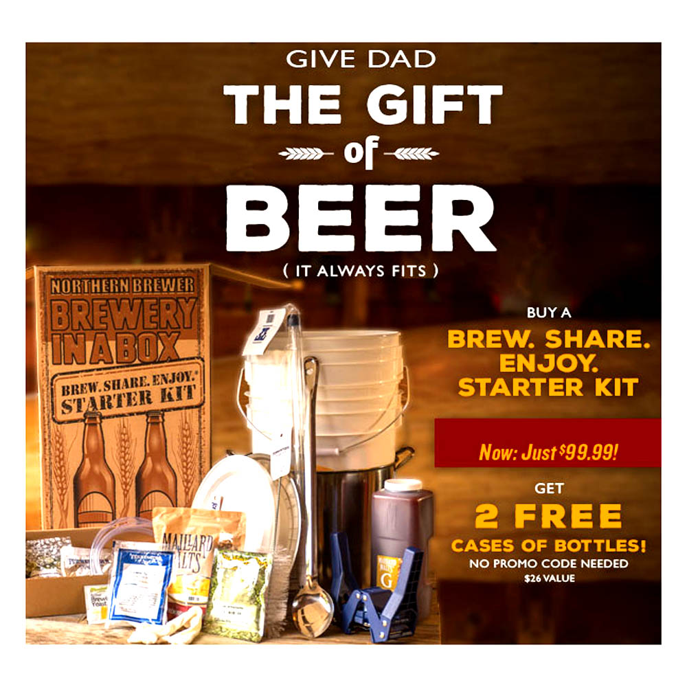 Home Brewer Promo Code for Get 2 Free Cases of Beer Bottles at Northern Brewer Coupon Code