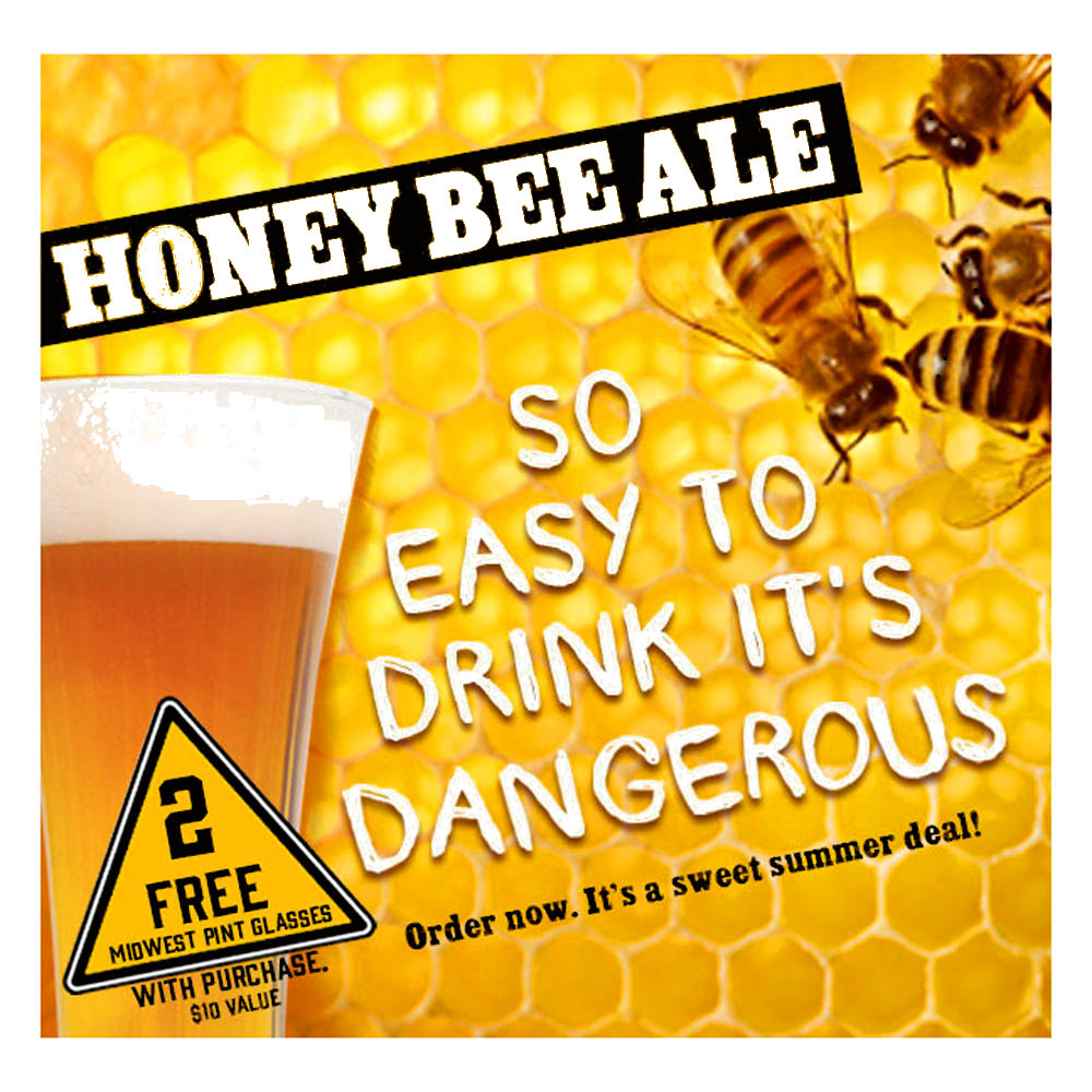 Home Brewer Promo Code for Buy a Midwest Supplies Honey Bee Ale and Get 2 Free Beer Glasses Coupon Code