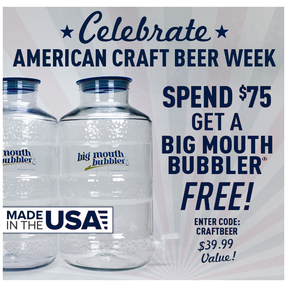 Home Brewer Promo Code for GET A FREE BIG MOUTH BUBBLER Coupon Code