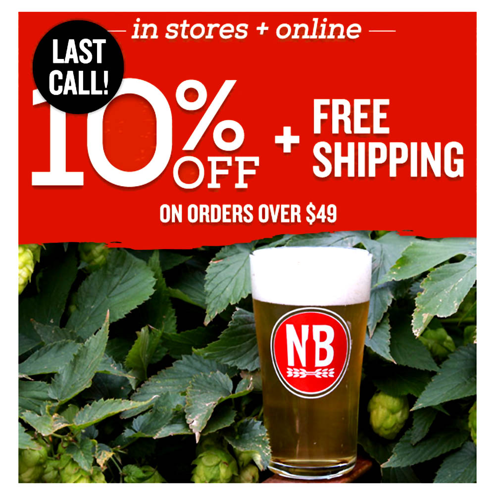 Home Brewer Promo Code for 10% Off Site Wide Plus Free Shipping Over $49 Coupon Code