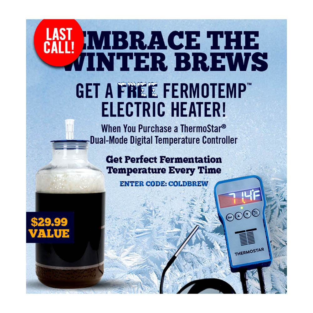 Home Brewer Promo Code for Free Fermotemp with Purchase of a Thermostar Coupon Code