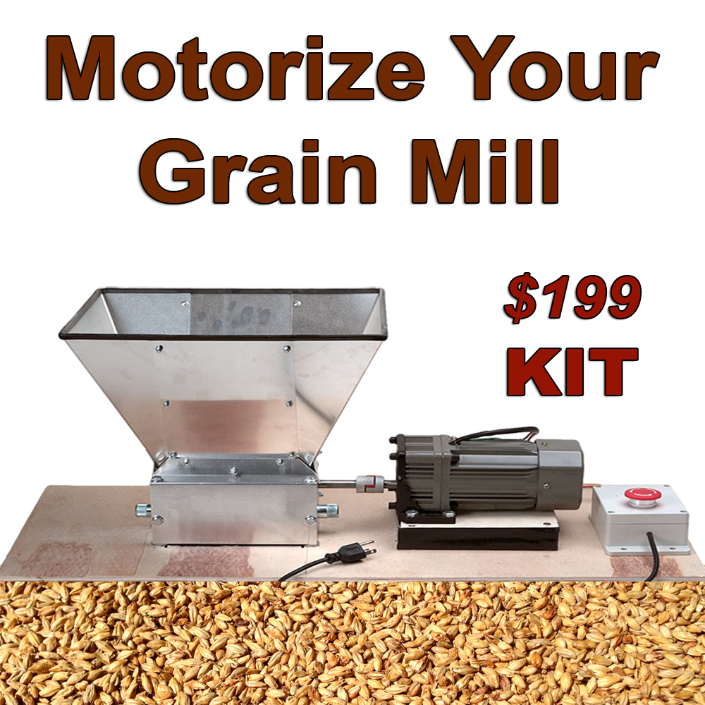 Home Brewer Promo Code for Mortorize Your Home Brewing Grain Mill! Coupon Code