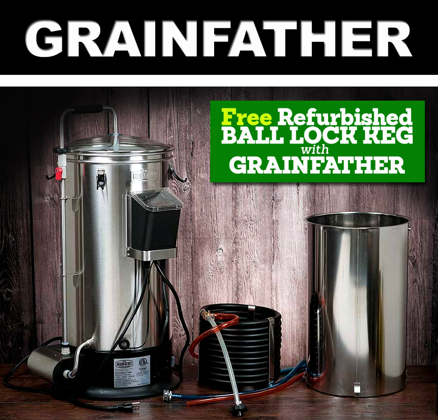 Home Brewer Promo Code for Get a FREE Refurbished Ball Lock keg with purchase of a Grainfather Coupon Code