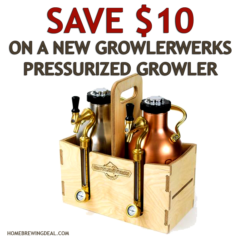 Home Brewer Promo Code for Save $10 On A Growler Works Ukeg Pressurized Growler Coupon Code