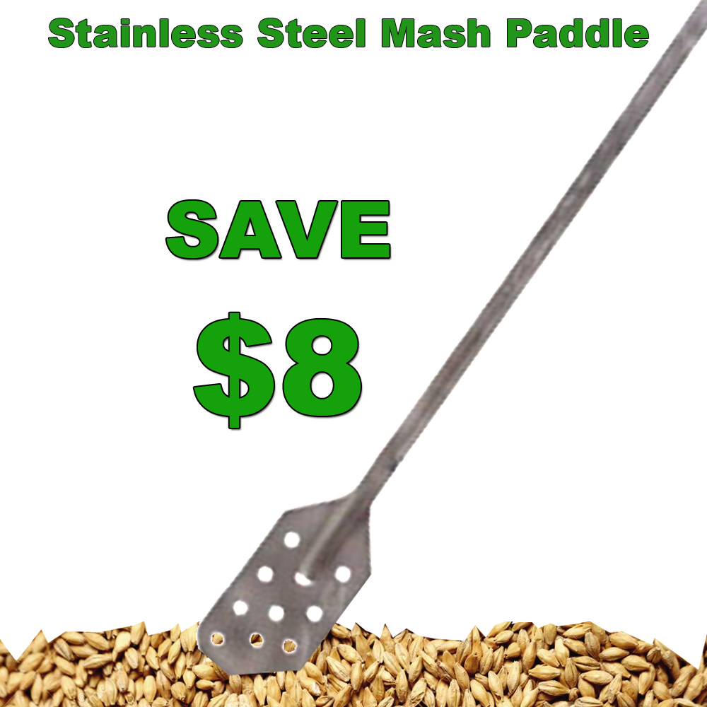 Home Brewer Promo Code for Save $8 On A Stainless Steel Home Brewers Mash Paddle Coupon Code