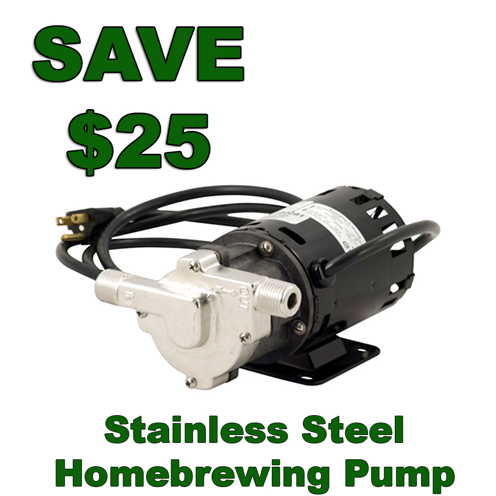 Home Brewer Promo Code for Save $25 On A Stainless Steel Home Brewing Pump Coupon Code