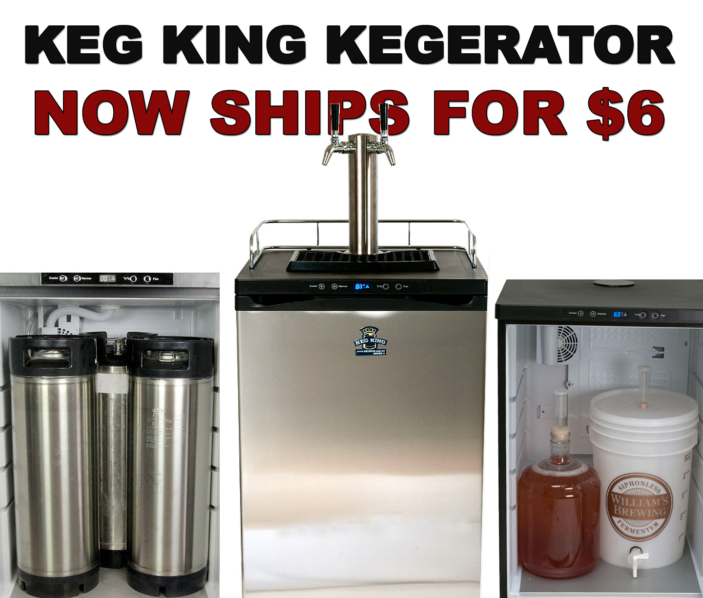 Home Brewer Promo Code for Get $6.99 Shipping On A New Keg King Kegerator Coupon Code