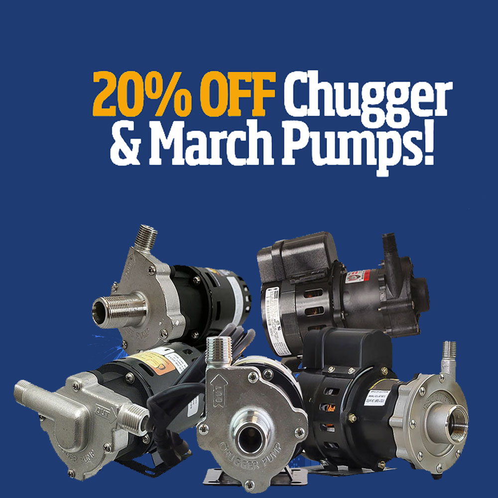 Home Brewer Promo Code for Save 20% On Chugger and March Pumps Coupon Code