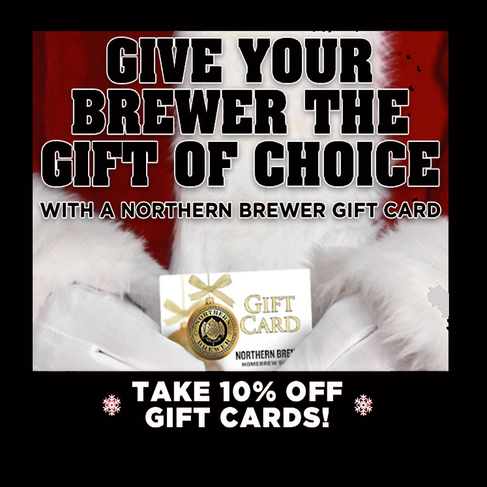 Home Brewer Promo Code for Save 10% On Northern Brewer Gift Cards Coupon Code