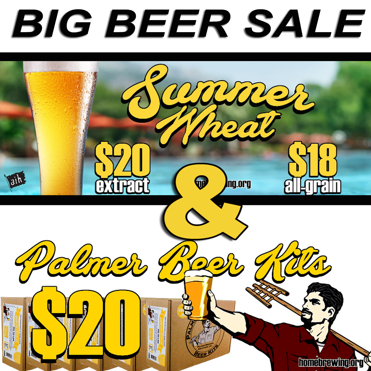 Homebrew Sale for Big Beer Sale - Palmer Homebrewing Beer Kits For Just $20 Sale
