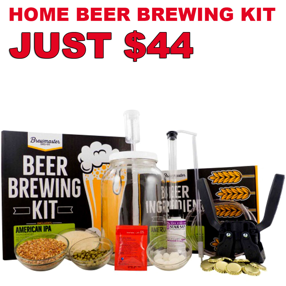 Home Brewer Promo Code for Today Only Get A 1 Gallon IPA Home Beer Brewing Kit For Just $44 Coupon Code