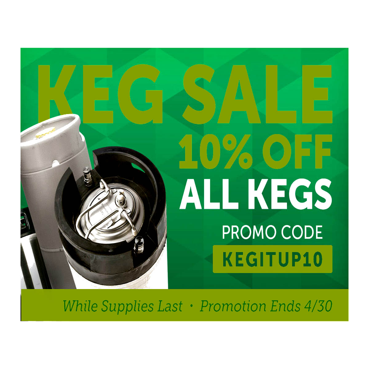 Home Brewer Promo Code for Save 10% Off All Kegs at Homebrew Supply Coupon Code