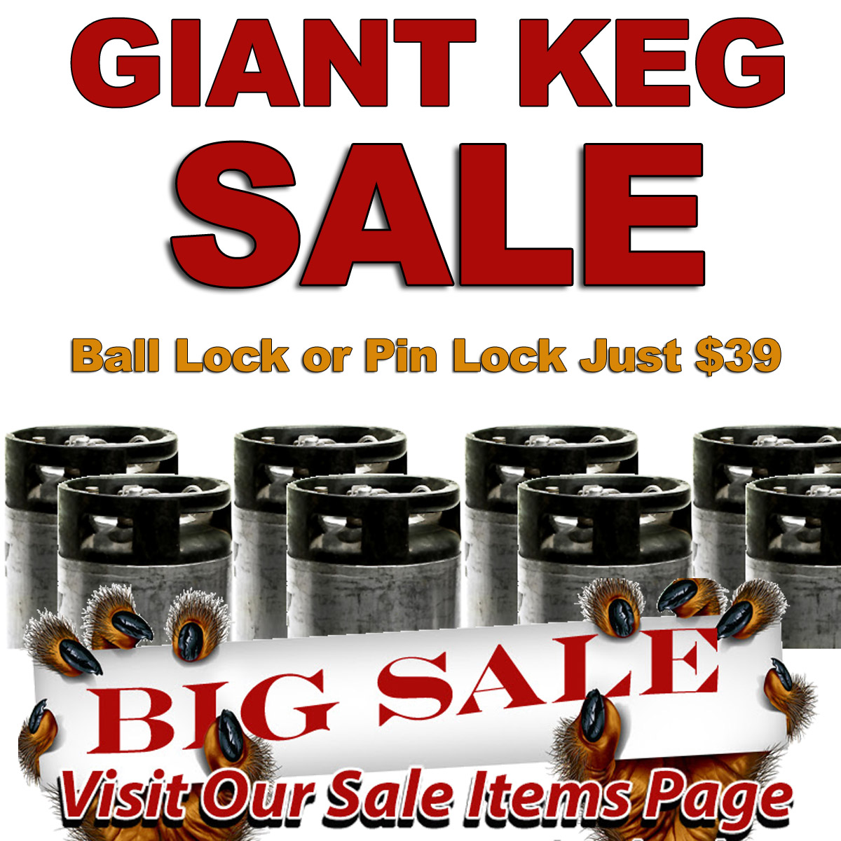 Homebrew Sale for Just $39 for a Ball Lock or Pin Lock Homebrewing Keg Sale