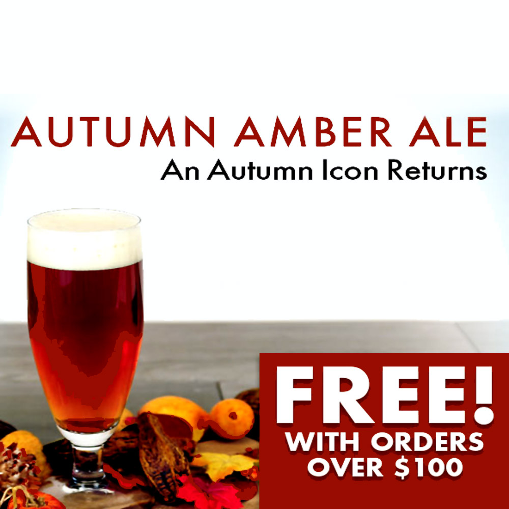 Home Brewer Promo Code for GET A FREE AUTUMN AMBER ALE WITH MIDWEST SUPPLIES ORDERS OVER $100 Coupon Code