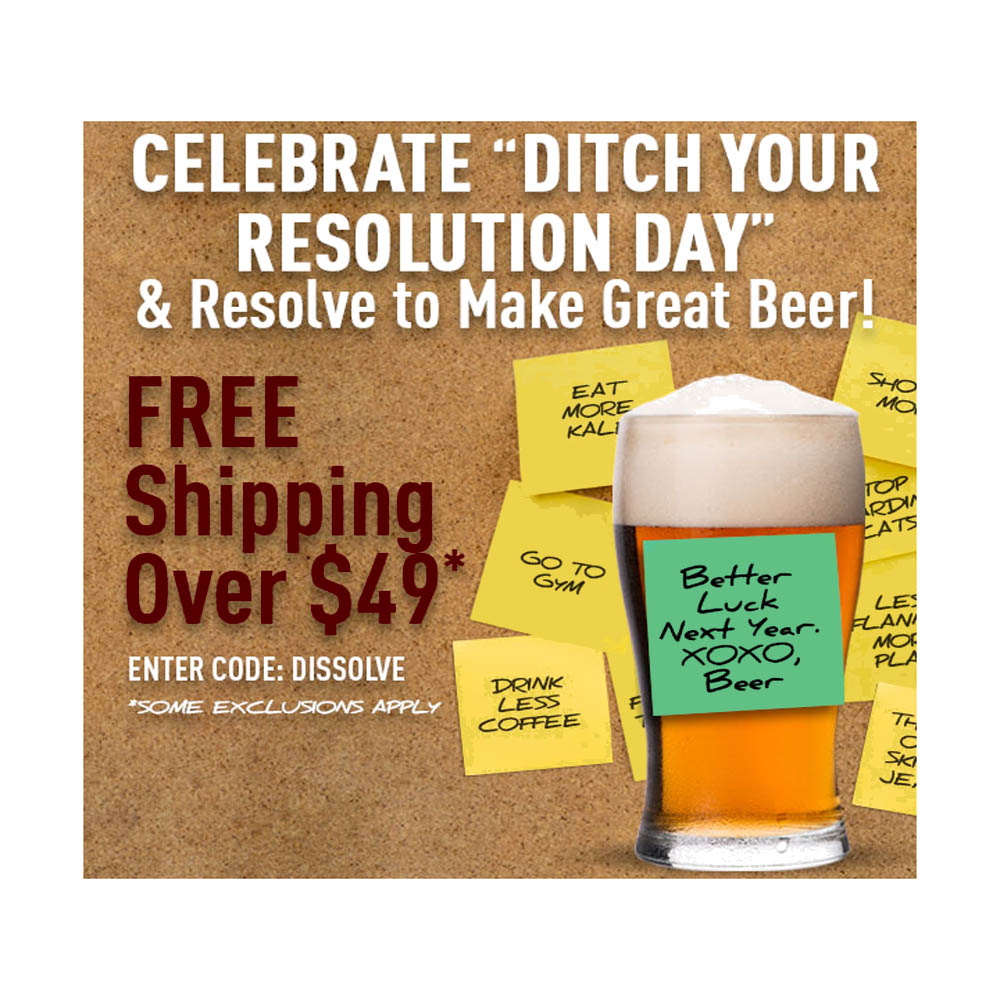 Home Brewer Promo Code for Free Shipping On Orders Over $49 at MidwestSupplies.com Coupon Code