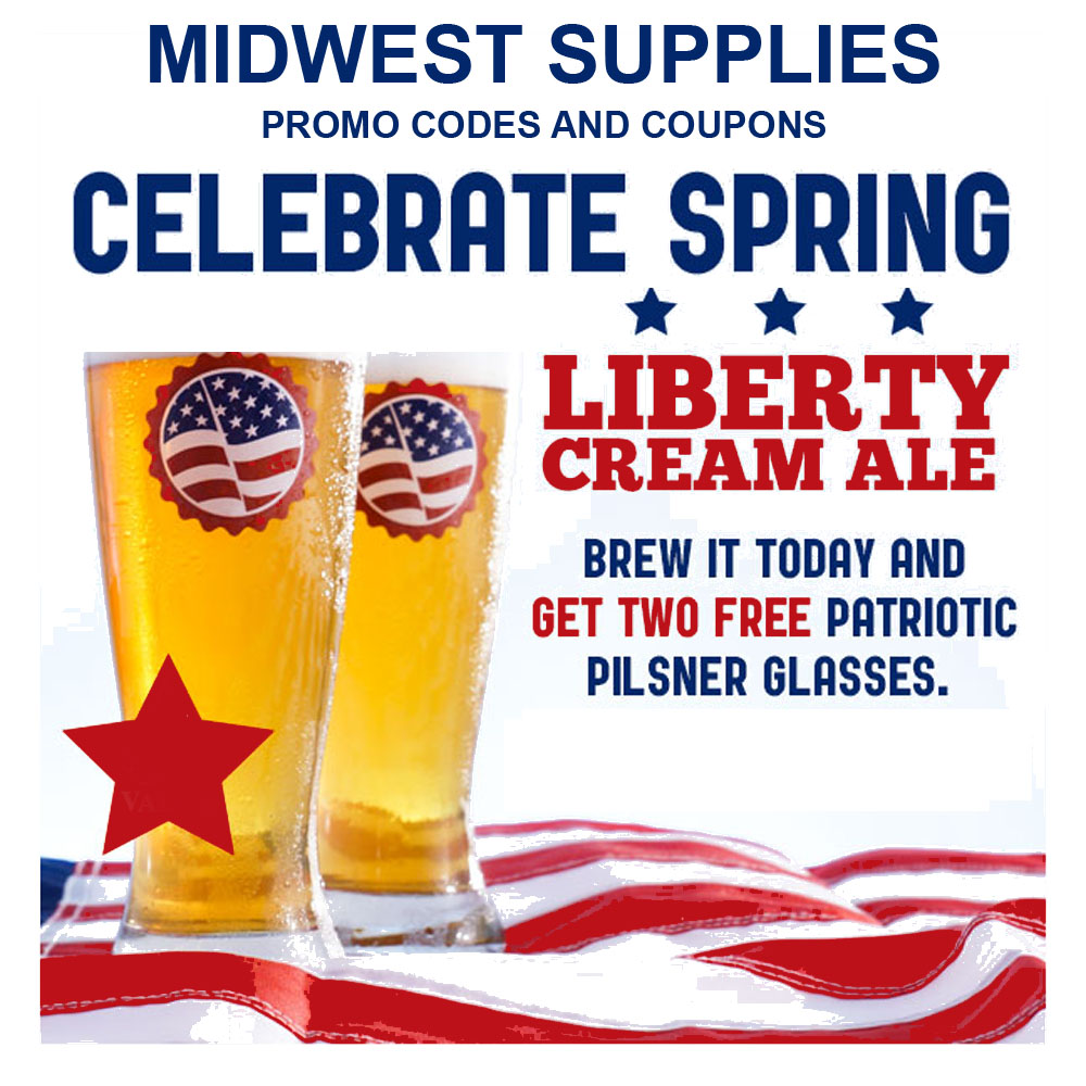 Home Brewer Promo Code for Buy a Liberty Cream Ale Beer Kit and Get a Free Glass Coupon Code