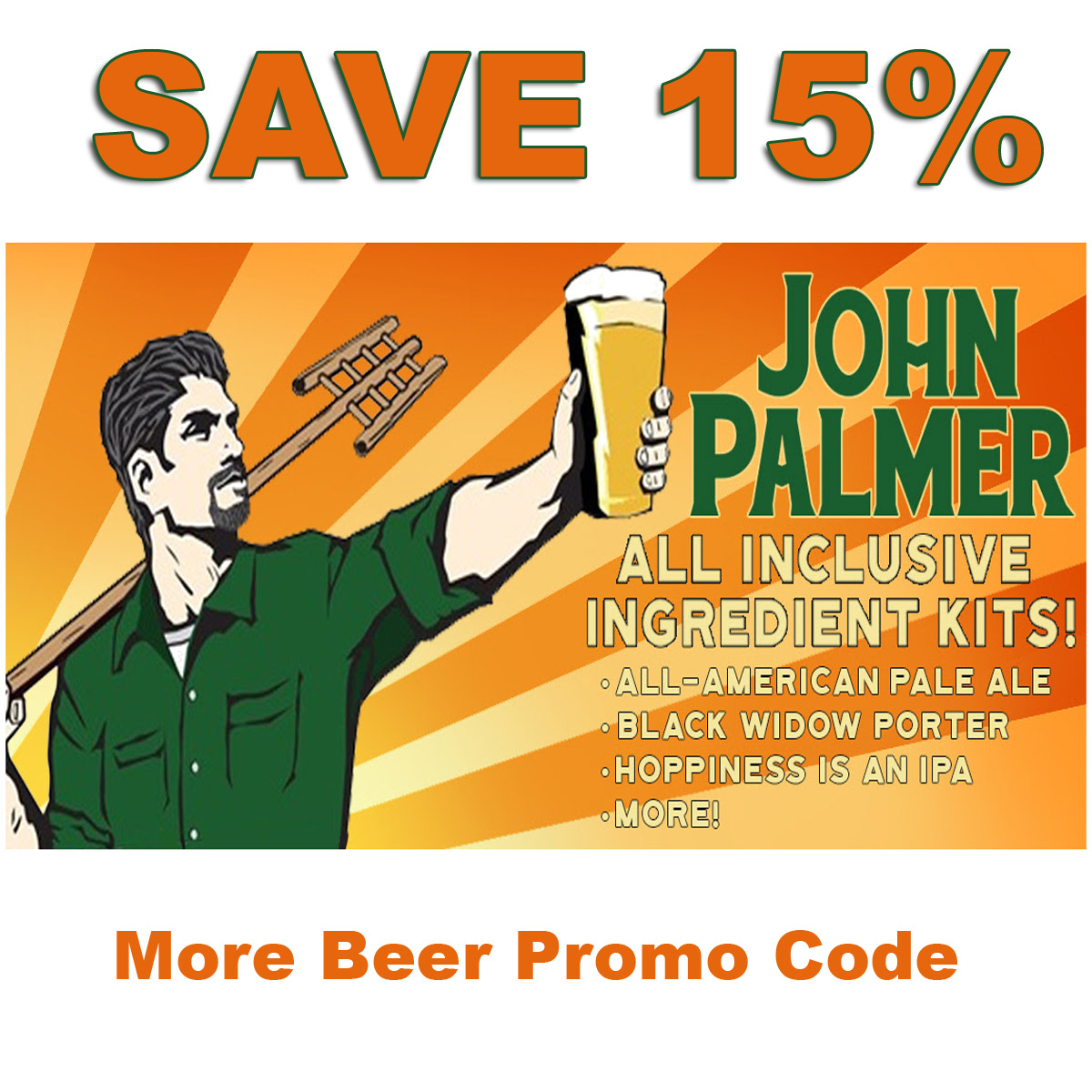 Home Brewer Promo Code for Save 15% On All John Palmer Home Brewing Beer Kits Coupon Code