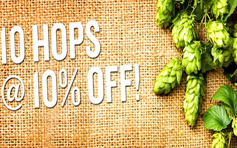 MoreBeer Take 10% Off Select Hops at MoreBeer.com Coupon Code