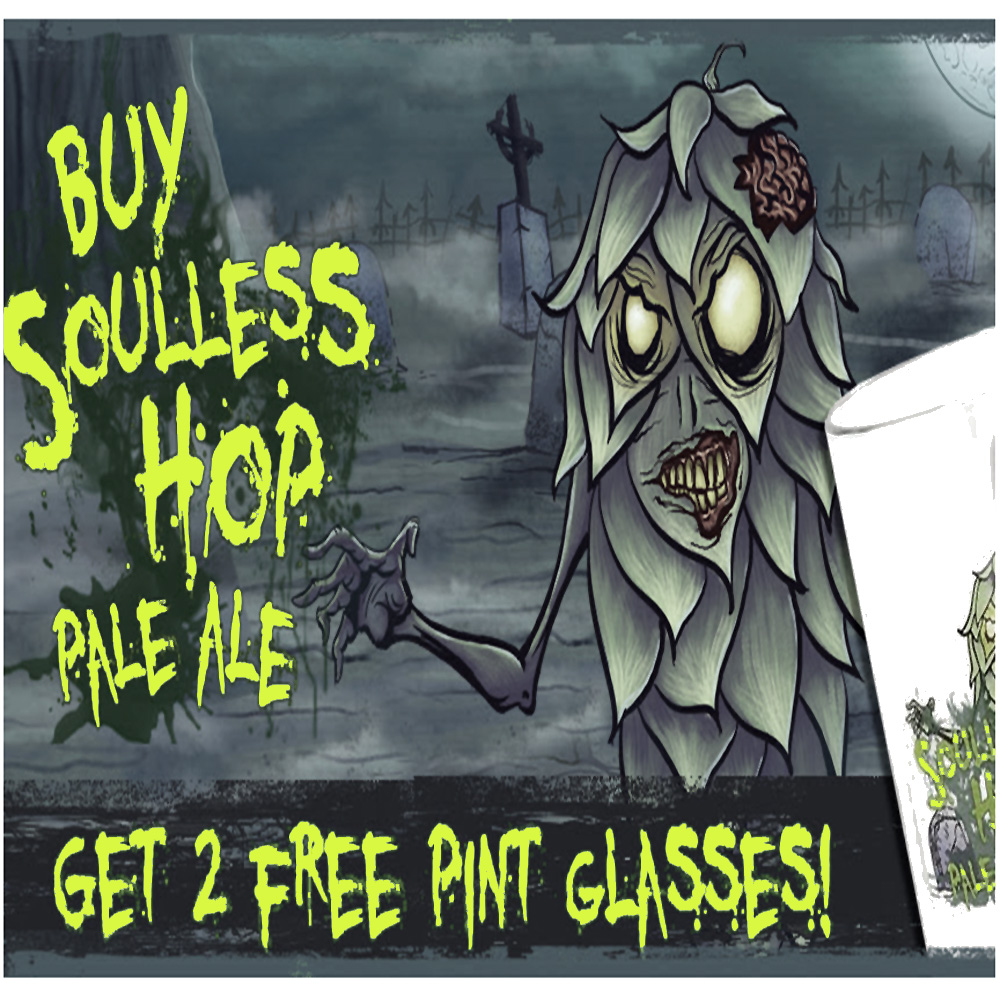 Home Brewer Promo Code for Get Two Free Pint Glasses with the purchase of a Soulless Hop Pale Ale Beer Kit Coupon Code
