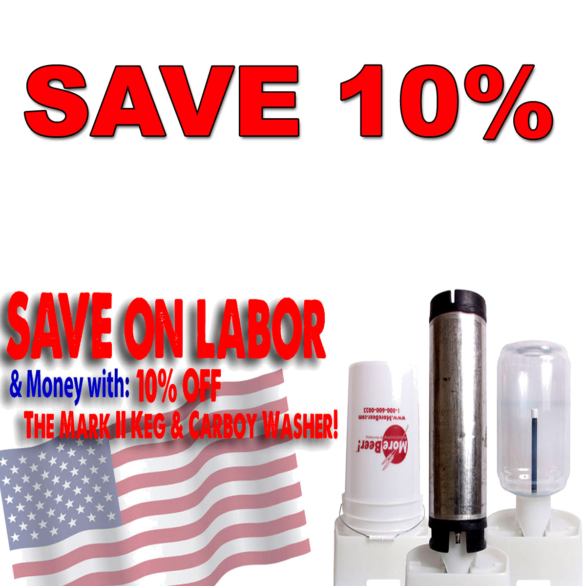 Home Brewer Promo Code for Save 10% On A Keg And Carboy Washer Coupon Code