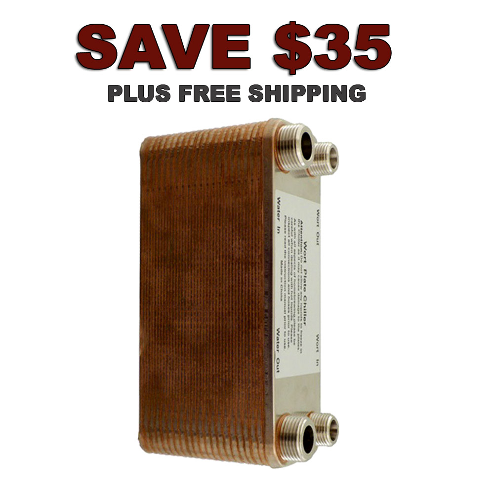 Home Brewer Promo Code for Save $35 On A 40 Plate Home Brewing Plate Chiller Coupon Code