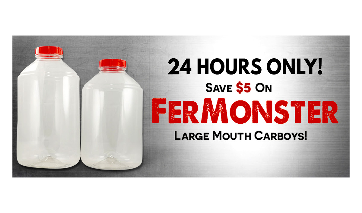 Home Brewer Promo Code for Save $5 On FerMonster Carboys at MoreBeer! Coupon Code