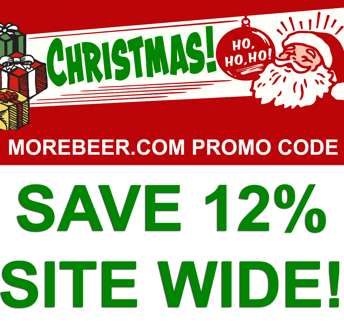 Home Brewer Promo Code for Save 12% Site Wide At MoreBeer.com With Promo Code Coupon Code