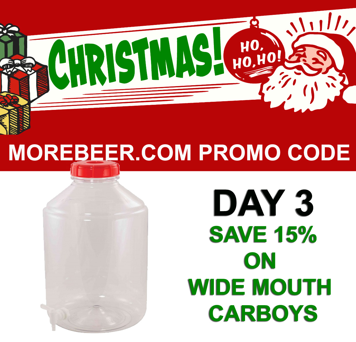 Home Brewer Promo Code for Save 15% On FerMonster Wide Mouth Home Brewing Carboys Coupon Code