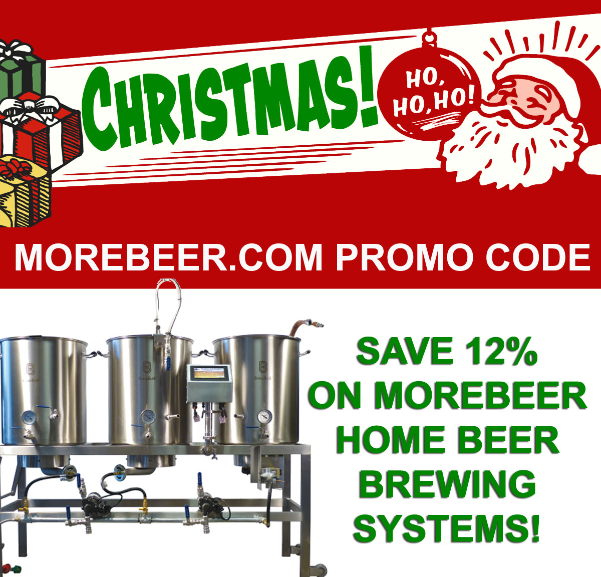Home Brewer Promo Code for Save 12% On More Beer Homebrewing Systems! Coupon Code