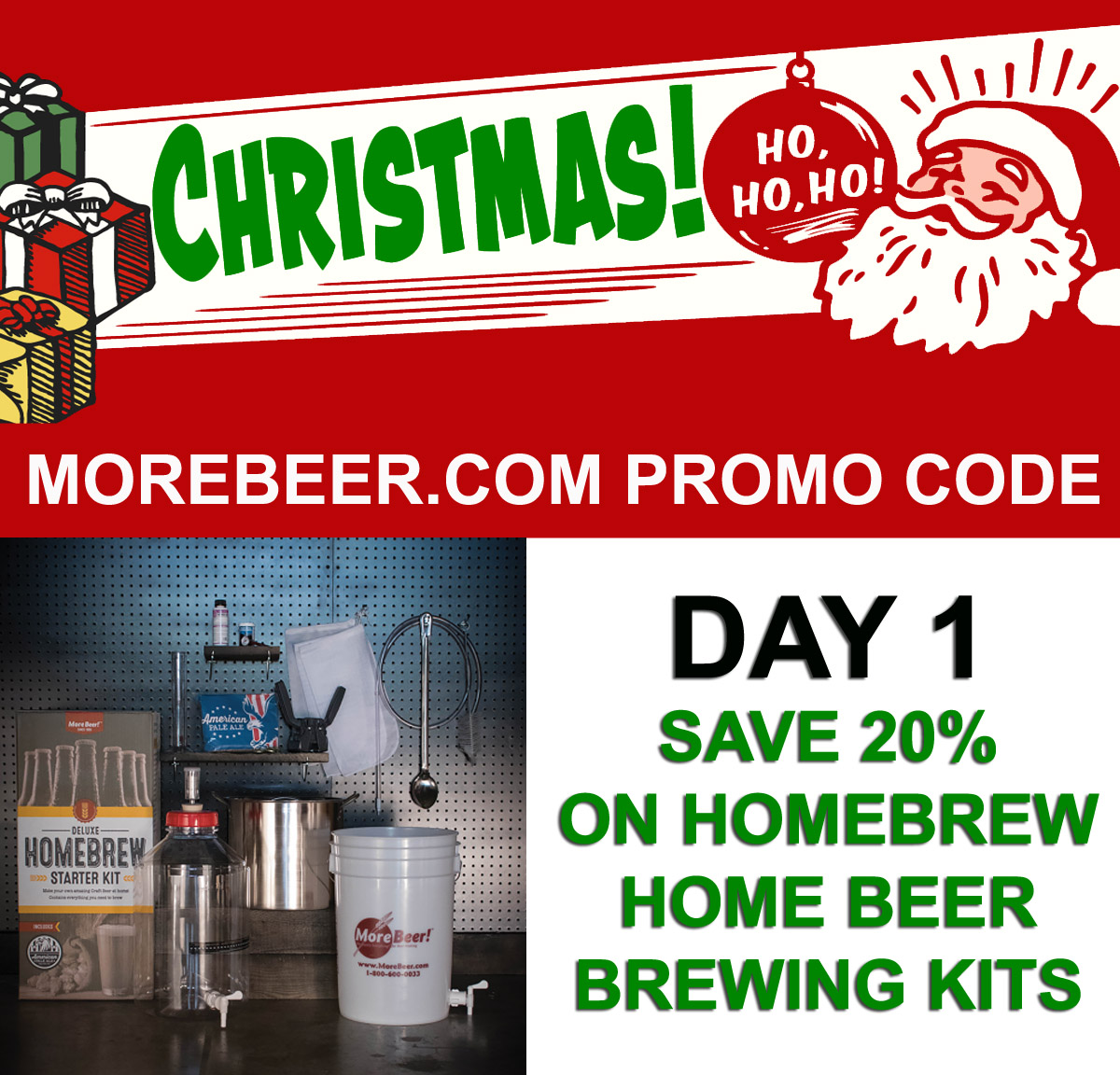 Home Brewer Promo Code for Save 20% On Homebrewing Starter Kits With This MoreBeer.com Promo Code Coupon Code