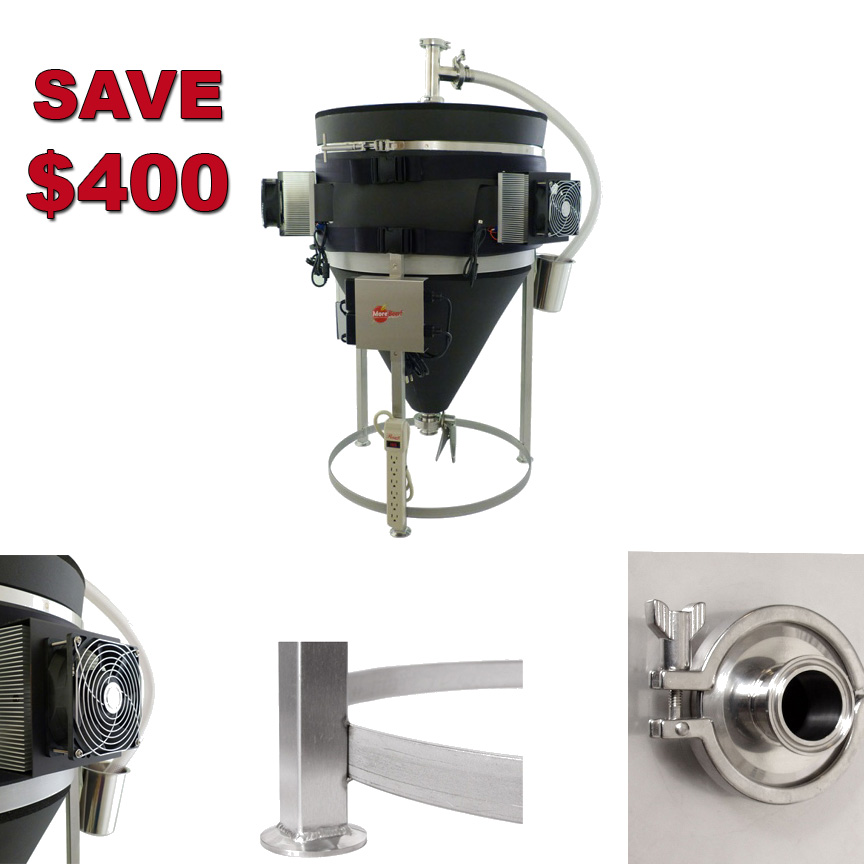 MoreBeer Save $400 on a Temperature Controlled Stainless Steel Conical Fermenter Coupon Code