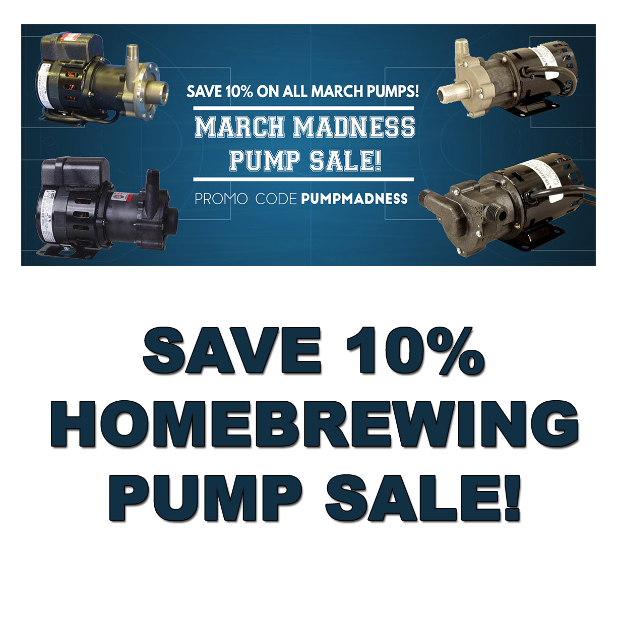 MoreBeer Save 10% On A March Homebrewing Pump! Coupon Code