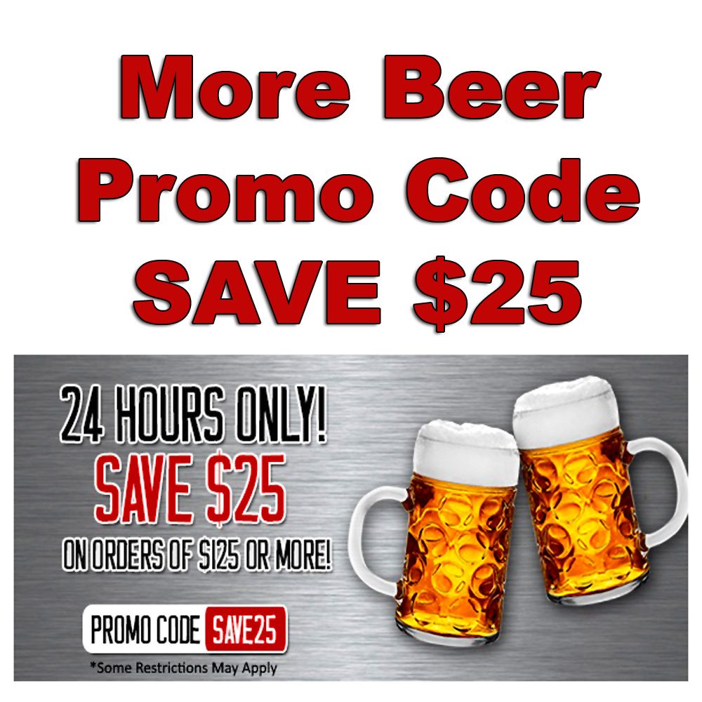 Homebrew Promo Code for Save $25 On Orders of $125 Or More Special MoreBeer Promo Code Promo Codes