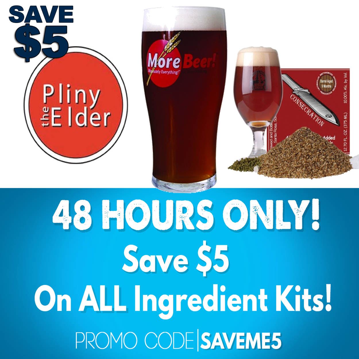 Home Brewer Promo Code for Save $5 On All Beer Kits at MoreBeer.com Coupon Code