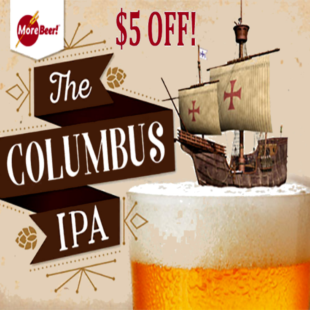 Home Brewer Promo Code for Save $5 On Columbus IPA Beer Kits Coupon Code