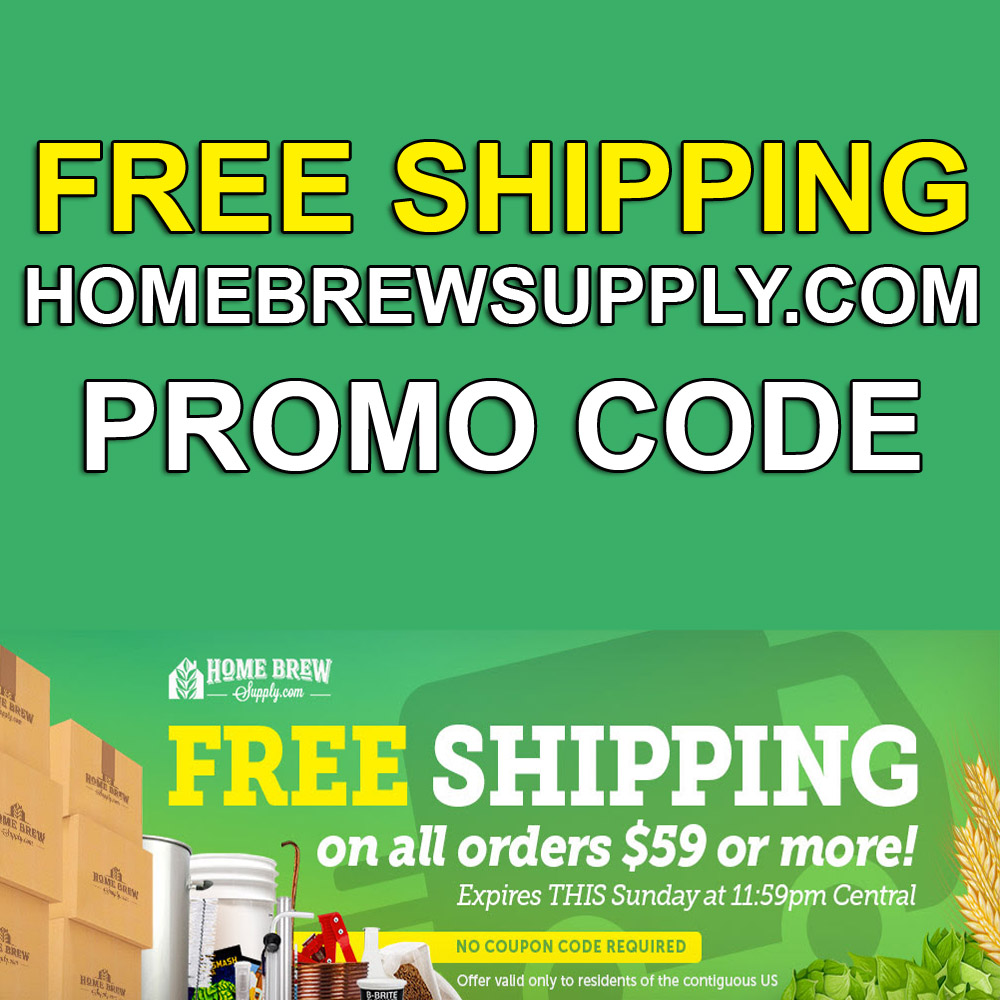 Home Brewer Promo Code for Get Free Shippin On Order of $59 Or More Coupon Code