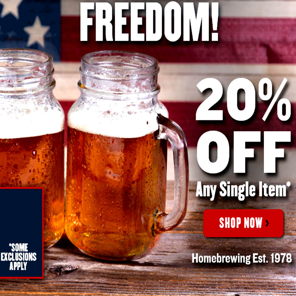 Home Brewer Promo Code for Save 20% On A Single Item at NorthernBrewer.com Coupon Code