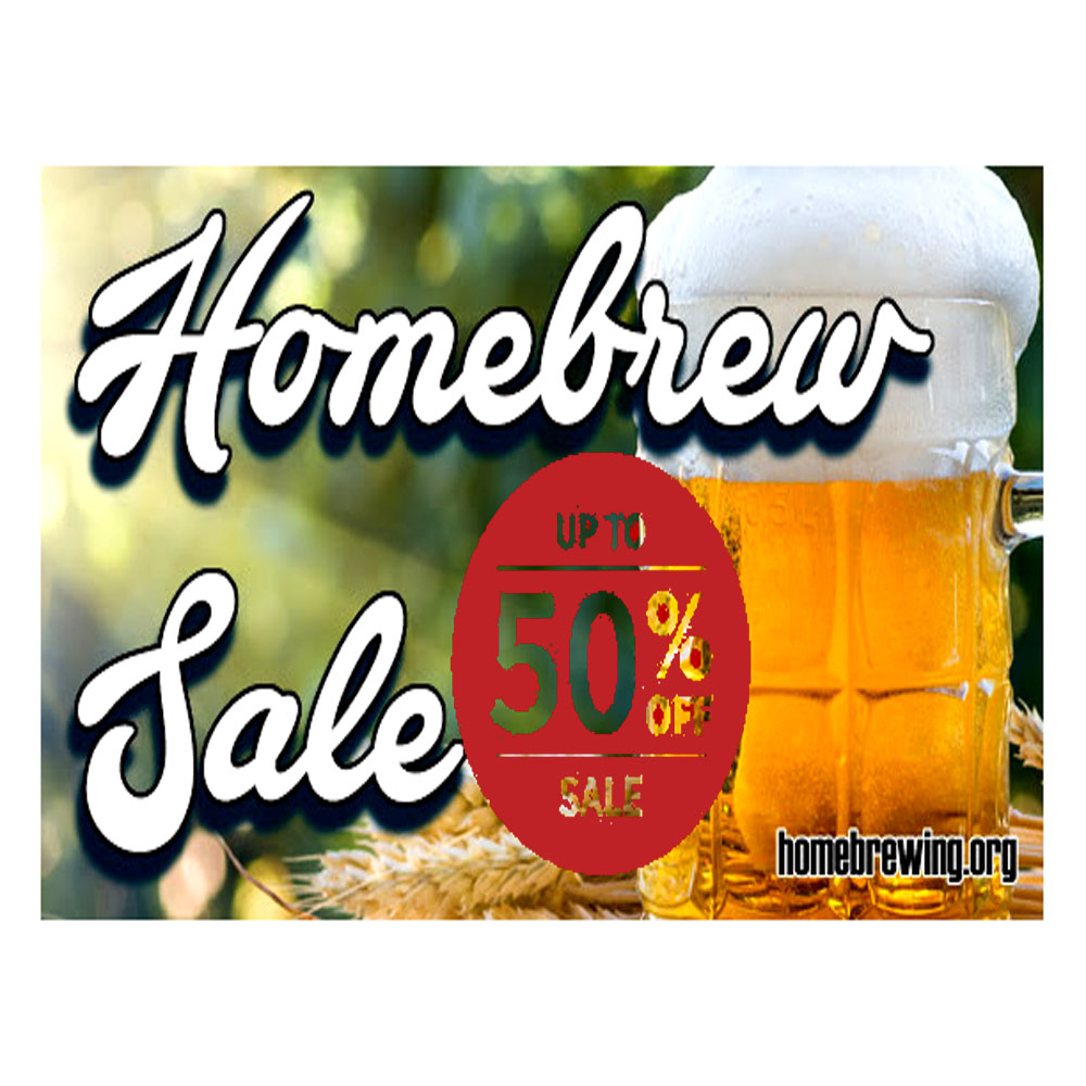 Homebrew Sale for Save Up To 50% On Your Homebrewing Purchase Sale